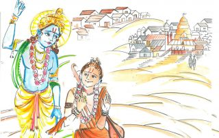 Krishna and Narad